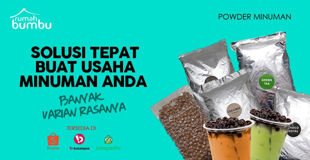 powder drink bubuk minuman
